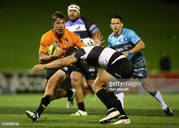 Jake Gordon of the Eagles is tackled during the 2016 NRC Grand Final match between the NSW Country Eagles and Perth Spirit at Scully Park on October...