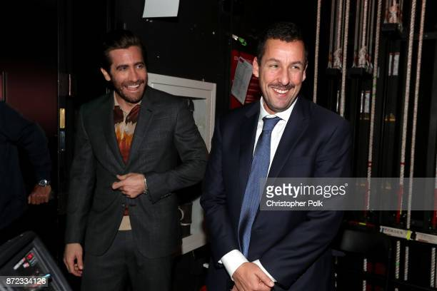 Jake Gyllenhaal and Adam Sandler attend the SAGAFTRA Foundation Patron of the Artists Awards 2017 at the Wallis Annenberg Center for the Performing...