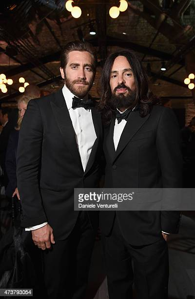 Jake Gyllenhaal and Alessandro Michele attend the Kering Official Cannes Dinner at Place de la Castre on May 17 2015 in Cannes France
