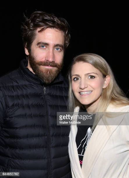 Jake Gyllenhaal and Annaleigh Ashford during the Actors' Equity opening night Gypsy Robe Ceremony honoring MaryAnn Hu for ''Sunday in the Park with...