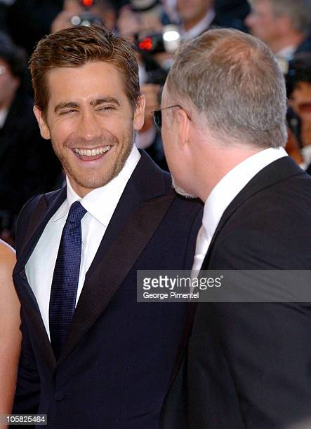 Jake Gyllenhaal and David Fincher during 2007 Cannes Film Festival 'Zodiac' Premiere at Palais de Festival in Cannes France