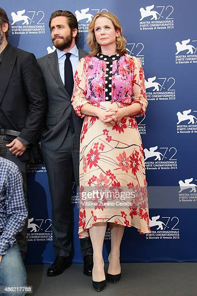 Jake Gyllenhaal and Emily Watson attend the 'Everest' photocall during the 72nd Venice Film Festival on September 2 2015 in Venice Italy