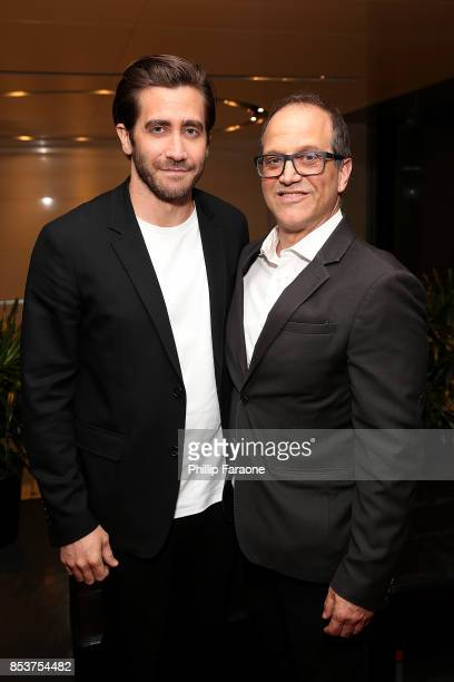 Jake Gyllenhaal and Gary Michael Walters attend BOLD Films special Los Angeles screening of STRONGER at CAA's Ray Kurtzman Theater at CAA on...