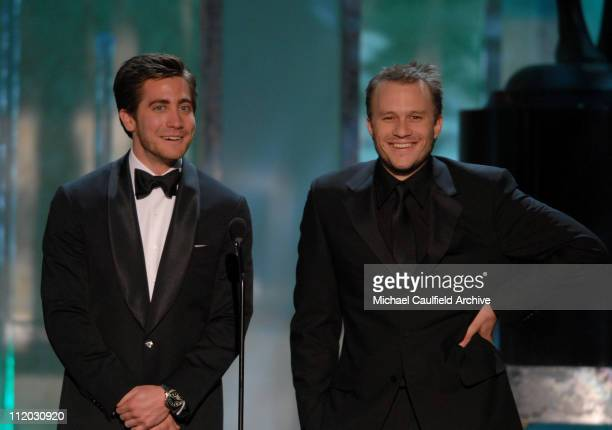 Jake Gyllenhaal and Heath Ledger introduce a clip of 'Brokeback Mountain' nominee for Outstanding Performance by a Cast in a Motion Picture...