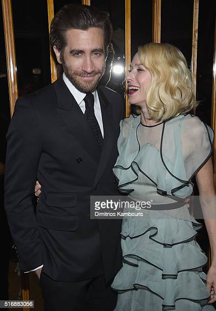 Jake Gyllenhaal and Naomi Watts attend Fox Searchlight Pictures with The Cinema Society host a screening of 'Demolition' after party on March 21 2016...