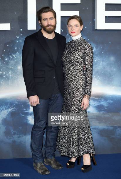 Jake Gyllenhaal and Rebecca Ferguson attend the 'Life' photocall at Corinthia Hotel London on March 16 2017 in London England