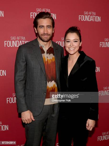 Jake Gyllenhaal and Tatiana Maslany attend the SAGAFTRA Foundation Patron of the Artists Awards 2017 at the Wallis Annenberg Center for the...