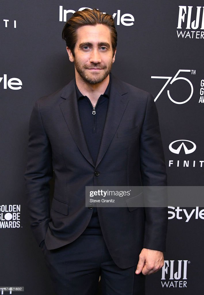 Jake Gyllenhaal arrives at the Hollywood Foreign Press Association And InStyle Celebrate The 75th Anniversary Of The Golden Globe Awards at Catch LA on November 15, 2017 in West Hollywood, California.