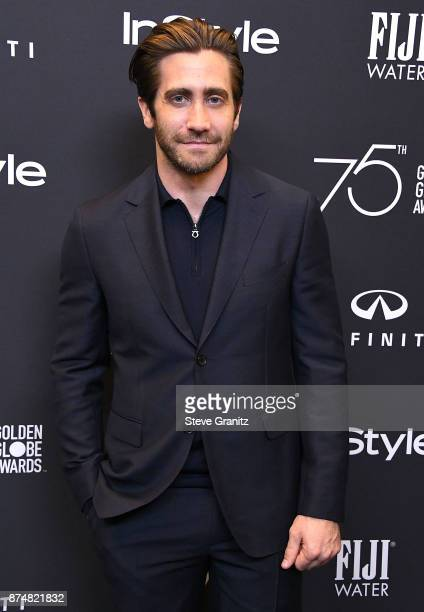 Jake Gyllenhaal arrives at the Hollywood Foreign Press Association And InStyle Celebrate The 75th Anniversary Of The Golden Globe Awards at Catch LA...