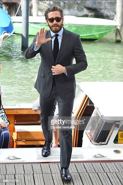 Jake Gyllenhaal arrives to the 'Everest' photocall during the 72nd Venice Film Festival on September 2 2015 in Venice Italy