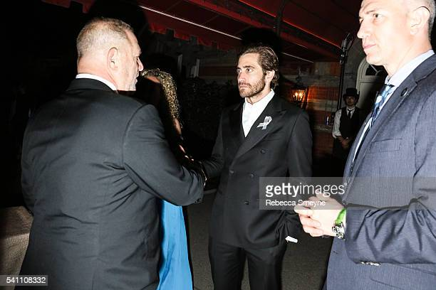 Jake Gyllenhaal at the Hamilton afterparty for the Tony Awards at Tavern on the Green in New York NY on June 13 2016