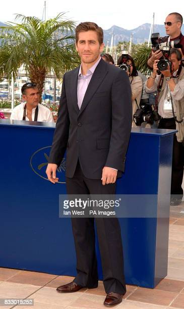 Jake Gyllenhaal attends a photocall for his new film Zodiac at the Palais Des Festivals during the 60th annual Cannes Film Festival Cannes France