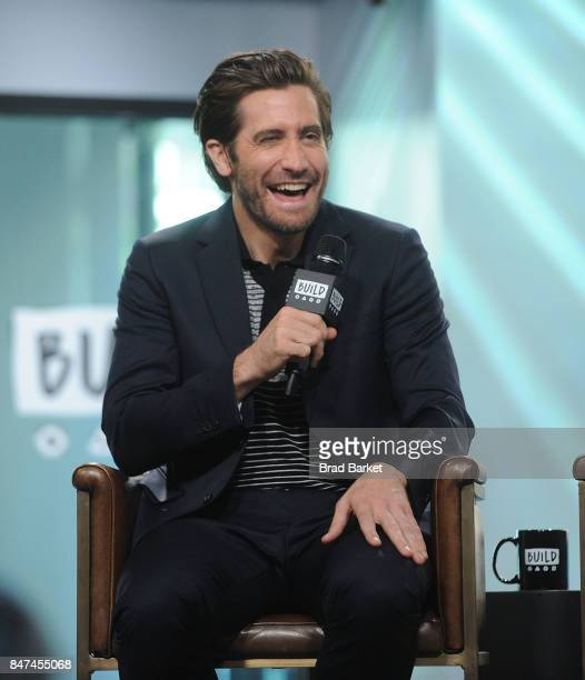 Jake Gyllenhaal attends Build Presents The Cast Of 'Stronger' at Build Studio on September 15 2017 in New York City