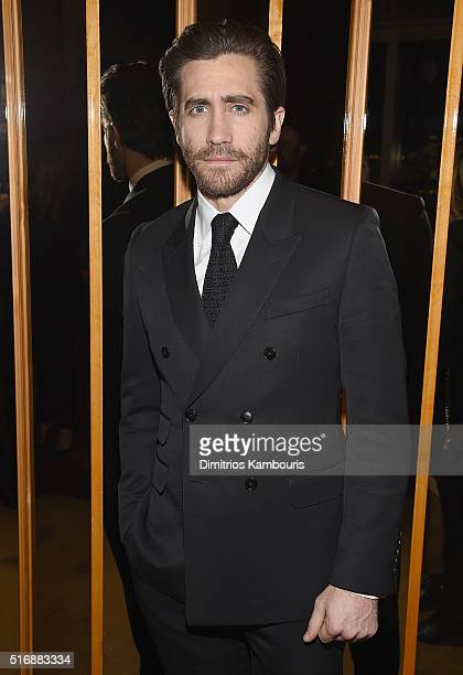 Jake Gyllenhaal attends Fox Searchlight Pictures with The Cinema Society host a screening of 'Demolition' after party on March 21 2016 in New York...