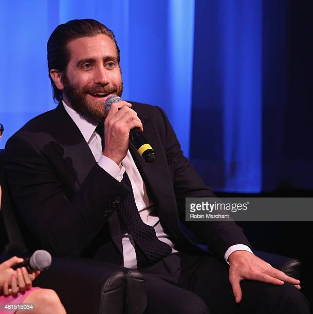 Jake Gyllenhaal attends The Academy Of Motion Picture Arts And Sciences Hosts An Official Academy Screening Of SOUTHPAW on July 21 2015 in New York...