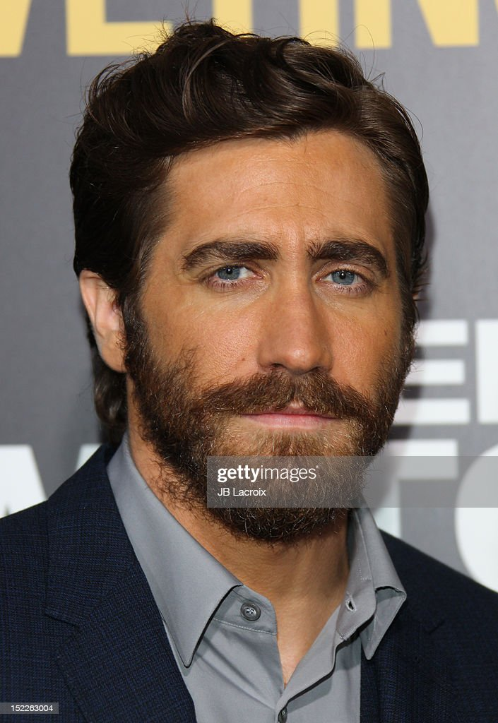<a gi-track='captionPersonalityLinkClicked' href=/galleries/search?phrase=Jake+Gyllenhaal&family=editorial&specificpeople=201833 ng-click='$event.stopPropagation()'>Jake Gyllenhaal</a> attends the 'End Of Watch' Los Angeles premiere at Regal Cinemas L.A. Live on September 17, 2012 in Los Angeles, California.
