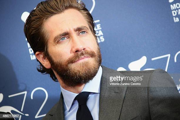 Jake Gyllenhaal attends the 'Everest' photocall during the 72nd Venice Film Festival on September 2 2015 in Venice Italy