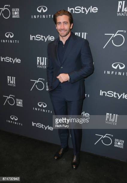 Jake Gyllenhaal attends the Hollywood Foreign Press Association and InStyle celebrate the 75th Anniversary of The Golden Globe Awards at Catch LA on...