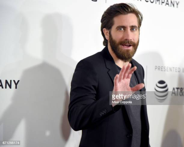 Jake Gyllenhaal attends the 'Hondros' Premiere during 2017 Tribeca Film Festival at Cinepolis Chelsea on April 21 2017 in New York City