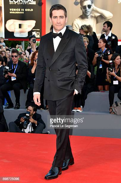 Jake Gyllenhaal attends the premiere of 'Nocturnal Animals' during the 73rd Venice Film Festival at Sala Grande on September 2 2016 in Venice Italy