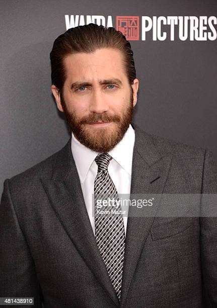 Jake Gyllenhaal attends the 'Southpaw' New York premiere at AMC Loews Lincoln Square on July 20 2015 in New York City