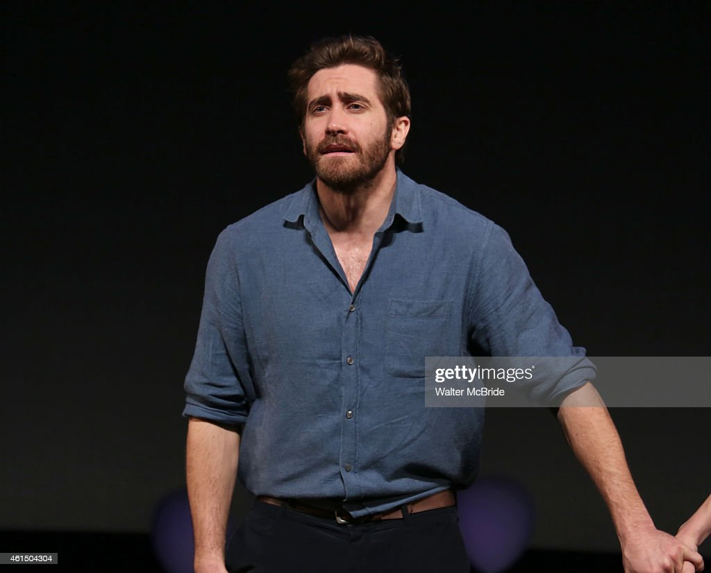 Jake Gyllenhaal during the Broadway Opening Night Performance Curtain Call for The Manhattan Theatre Club's production of 'Constellations' at the...