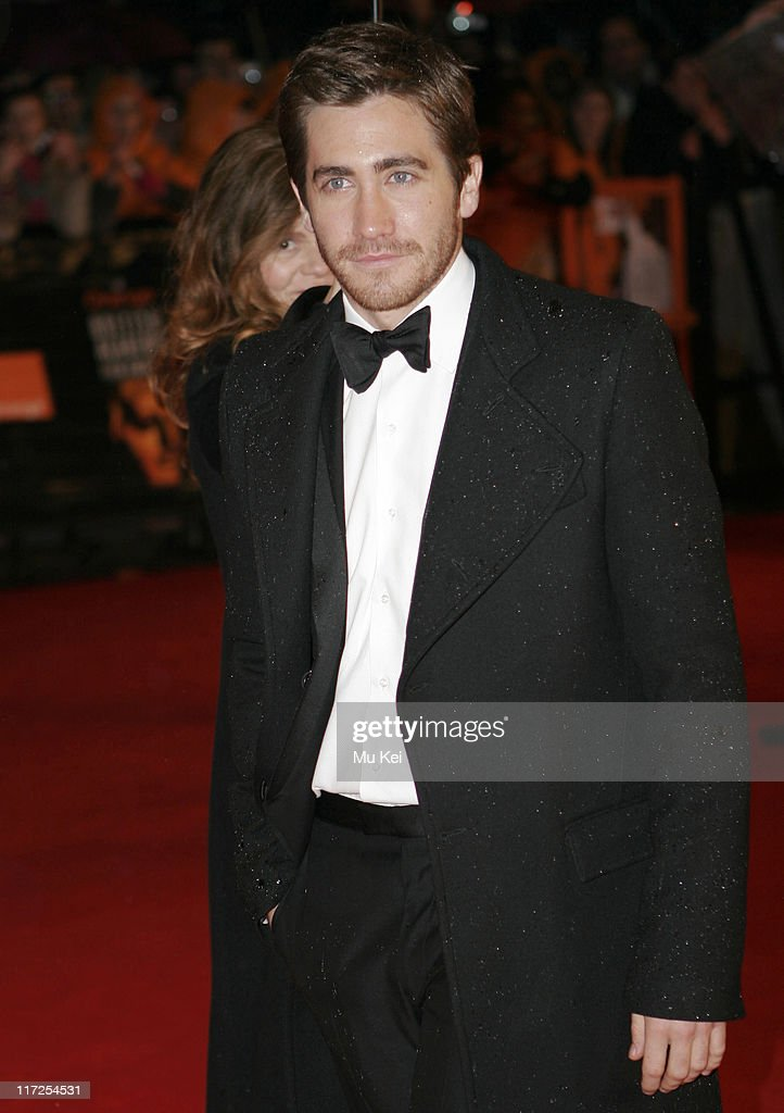 Jake Gyllenhaal during The Orange British Academy Film Awards 2006 - Arrivals at Odeon Leicester Square in London, Great Britain.