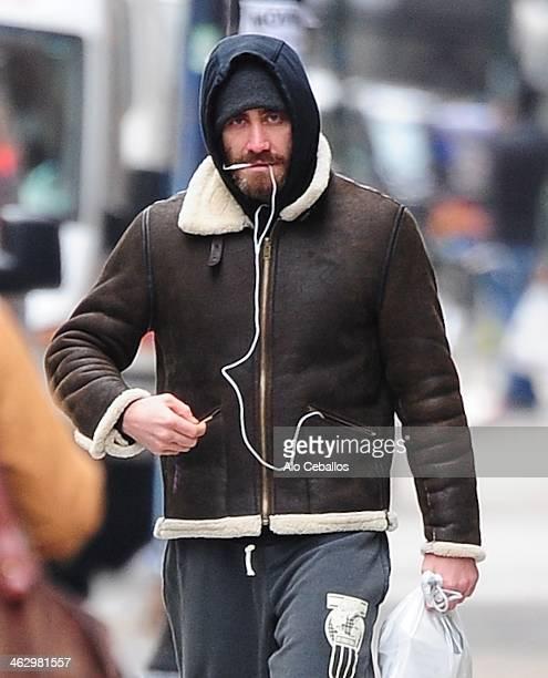 Jake Gyllenhaal is seen in soho on January 16 2014 in New York City