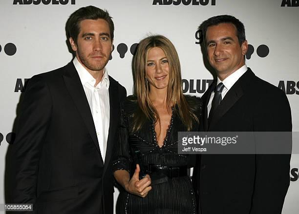 Jake Gyllenhaal Jennifer Aniston and Neil Giuliano President of GLAAD