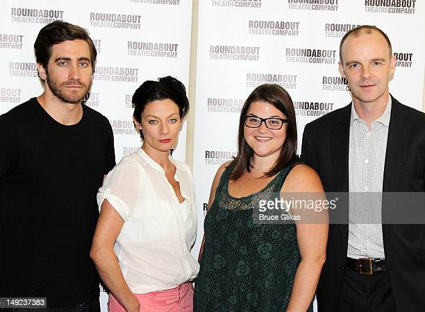Jake Gyllenhaal Michelle Gomez Annie Funke and Brían F O'Byrne attend the 'If There Is I Haven't Found It Yet' cast photocall on July 25 2012 in New...