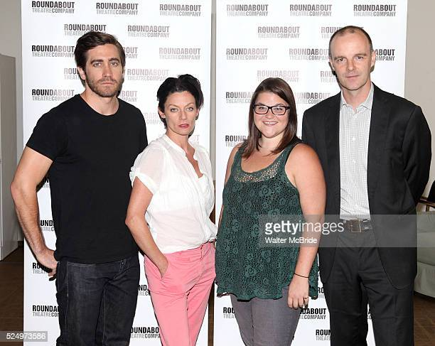 Jake Gyllenhaal Michelle Gomez Annie Funke Brian F O'Byrne attending the Meet Greet for the Roundabout Theatre Company Production of 'If There Is I...