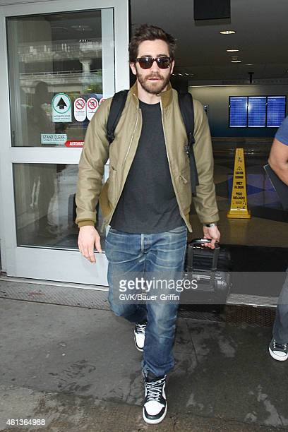 Jake Gyllenhaal seen at LAX on January 11 2015 in Los Angeles California