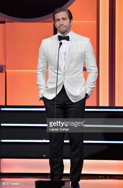 Jake Gyllenhaal speaks onstage during the 31st Annual American Cinematheque Awards Gala at The Beverly Hilton Hotel on November 10 2017 in Beverly...