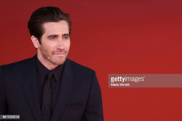Jake Gyllenhaal walks a red carpet for 'Stronger' during the 12th Rome Film Fest at Auditorium Parco Della Musica on October 28 2017 in Rome Italy