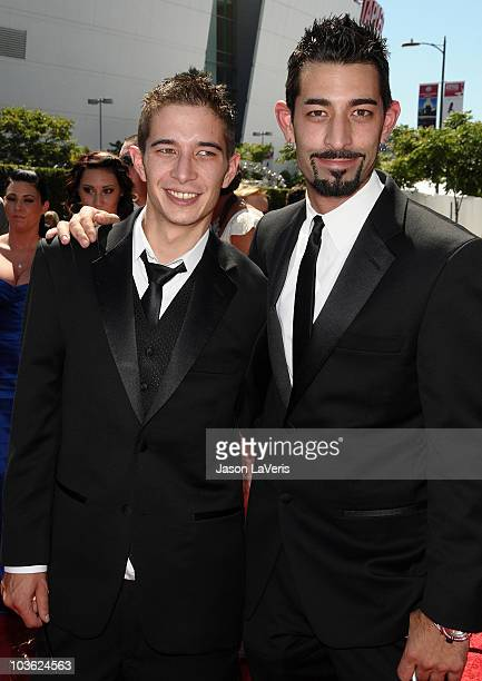 Jake Harris and Josh Harris attend the 2010 Creative Arts Emmy Awards at Nokia Plaza LA LIVE on August 21 2010 in Los Angeles California