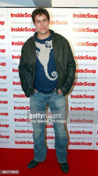 Jake Hendriks arrives for the Inside Soap Nominations party at the Oyster Bar and Restaurant Great John Street Manchester