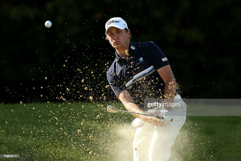 Jake Higginbottom of Australia hits a shot during day one of the New Zealand Open at Clearwater Golf Course on November 22, 2012 in Christchurch, New Zealand.