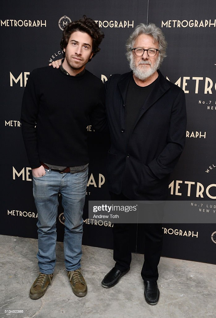 Jake Hoffman and Dustin Hoffman attend the Metrograph opening night at Metrograph on March 2, 2016 in New York City.