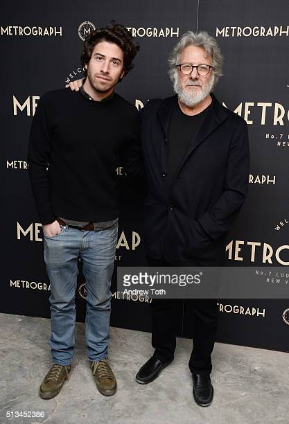 Jake Hoffman and Dustin Hoffman attend the Metrograph opening night at Metrograph on March 2 2016 in New York City