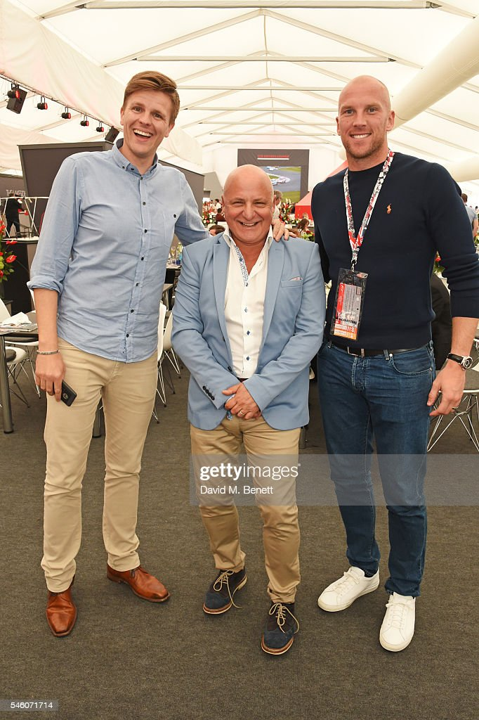 Stars Attend The British Grand Prix In The Driver Lounge