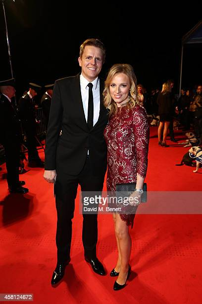 Jake Humphrey and wife Harrieta ttend Battersea Dogs Cats Home's 'Collars Coats Gala Ball' at Battersea Evolution on October 30 2014 in London England