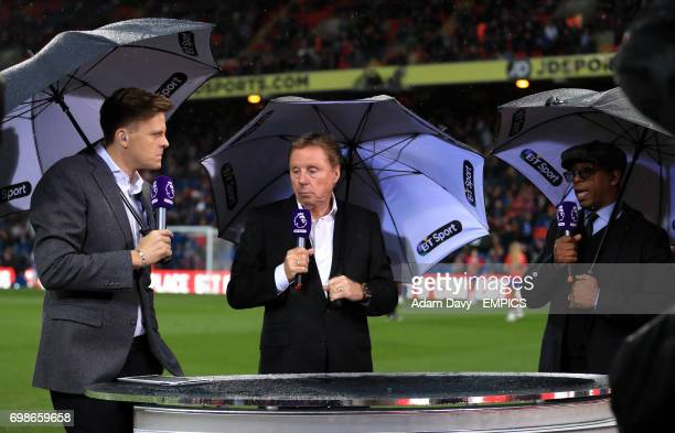 Jake Humphrey Harry Redknapp and Ian Wright working for BT Sport