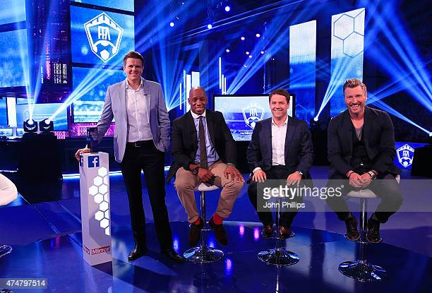 Jake Humphrey is joined by Ian Wright Michael Owen and Robbie Savage as they announce the winners of the inaugural Facebook Football Awards on May 26...