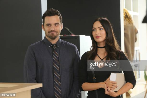 Jake Johnson and guest star Megan Fox in the 'Glue' episode of NEW GIRL airing Tuesday Feb 7 on FOX