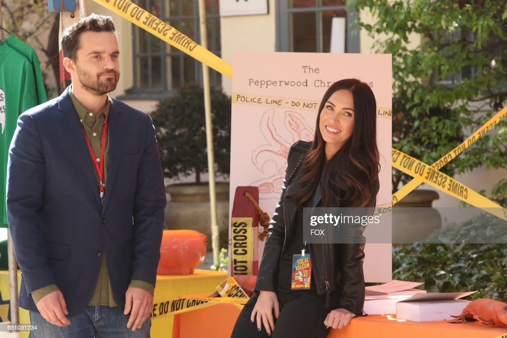 Jake Johnson and guest star Megan Fox in the 'Socalyalcon VI' episode of NEW GIRL airing Tuesday, March 14 (8:00-8:31 PM ET/PT) on FOX.