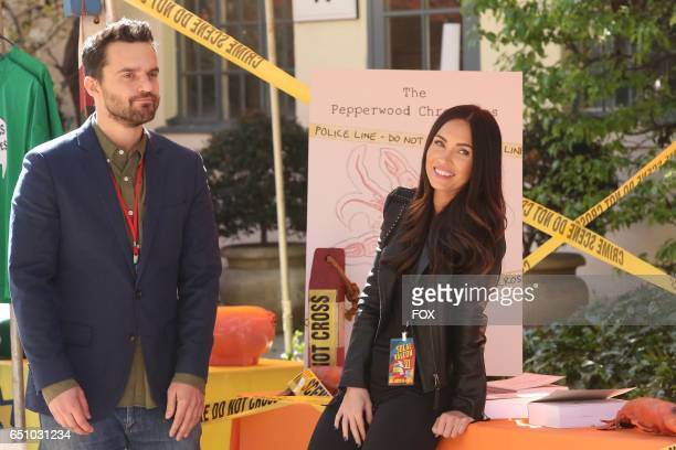 Jake Johnson and guest star Megan Fox in the 'Socalyalcon VI' episode of NEW GIRL airing Tuesday March 14 on FOX
