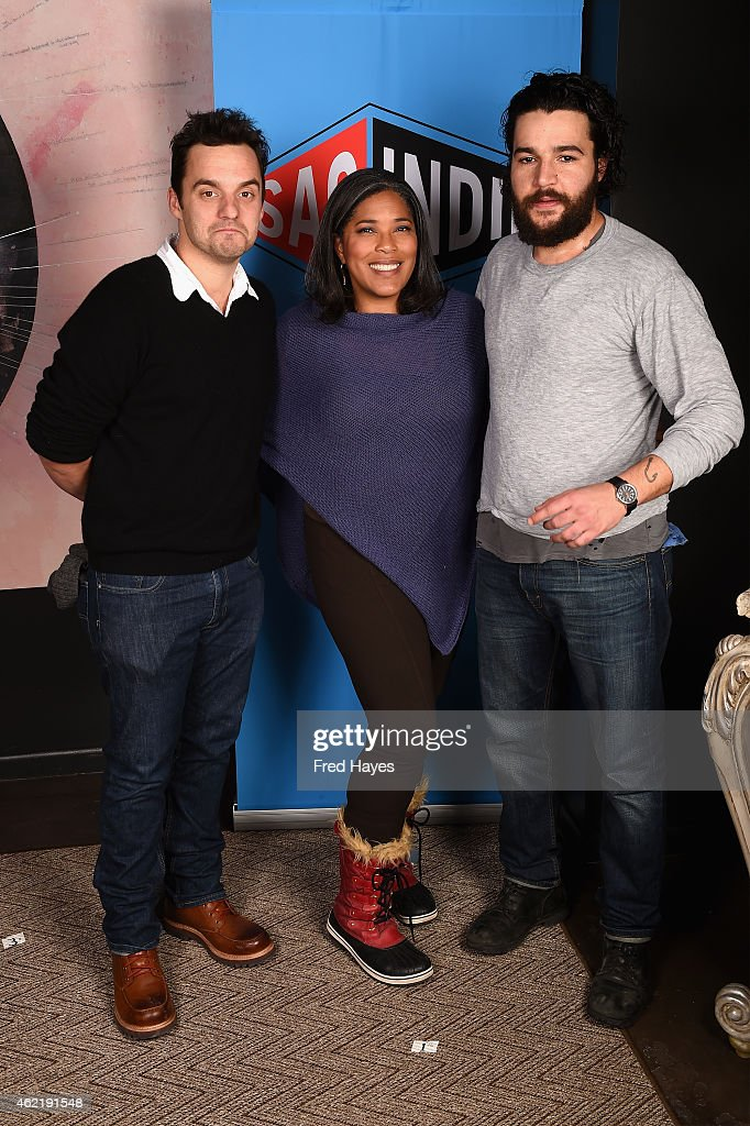 Jake Johnson Darrien Michele Gipson and Christopher Abbot attend the SAG Indie Actors Only Brunch during the 2015 Sundance Film Festival at Cafe...