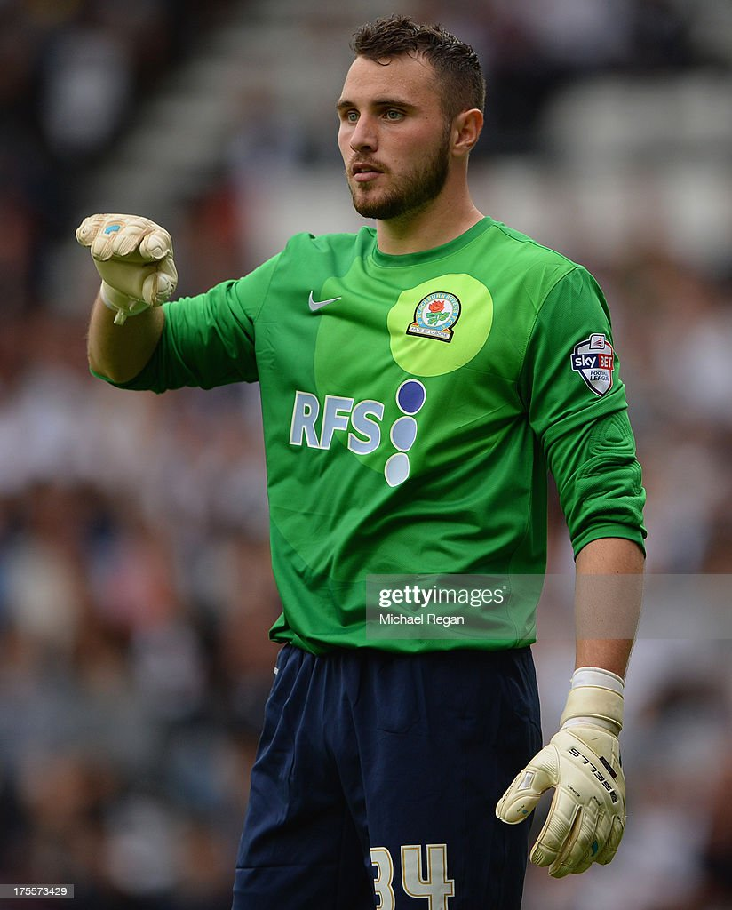 Jake Kean of Blackburn looks on during the Sky Bet Championship match between Derby County and Blackburn Rovers at Pride Park Stadium on August 04, 2013 in Derby, England,