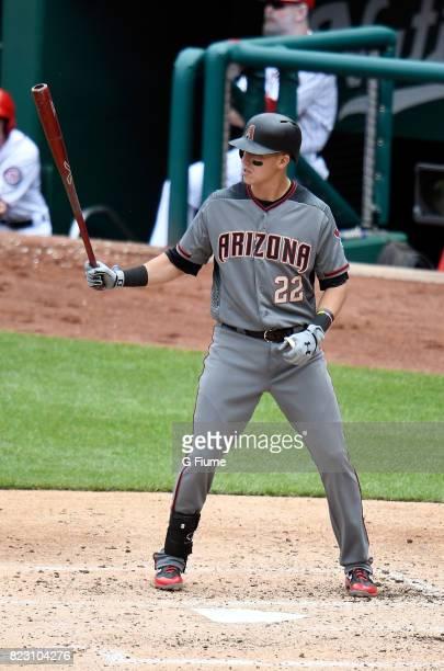 Jake Lamb of the Arizona Diamondbacks bats against the Washington Nationals at Nationals Park on May 4 2017 in Washington DC
