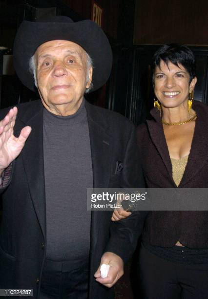 Jake LaMotta and fiancee Denise Baker during 'Raging Bull' 25th Anniversary and Collector's Edition DVD Release Celebration at The Ziegfeld Theatre...